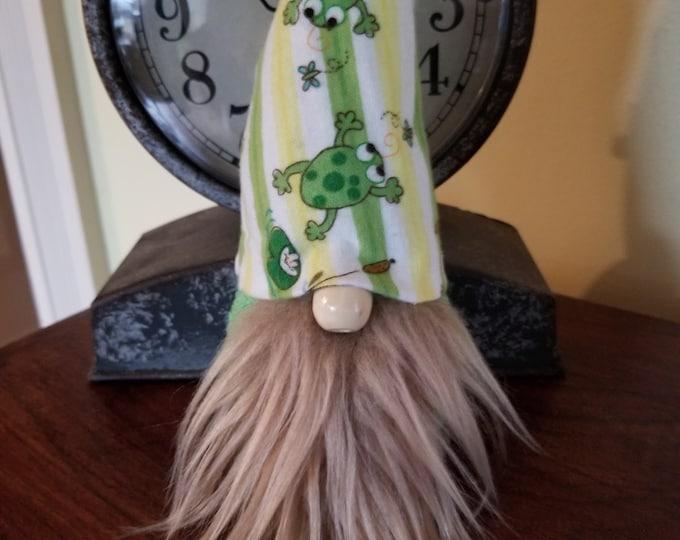 Handmade Super Cute Frog Hat Gnome, Frog Lover Gnome, Friendship Gnome, Birthday Gnome,Wedding Gnome, Wedding Gift Gnome