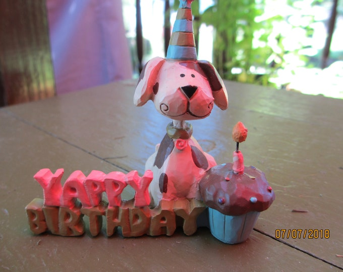 Happy Birthday Dog Candle Decoration, Birthday Dog, Doggy Yappy Birthday Candle Decor