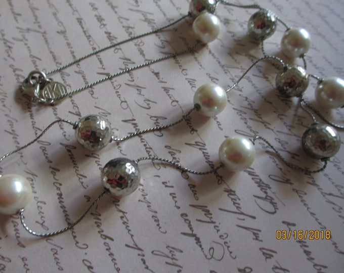 Vintage Ann Klein Beaded Necklace, Vintage Ann Klein Necklace
