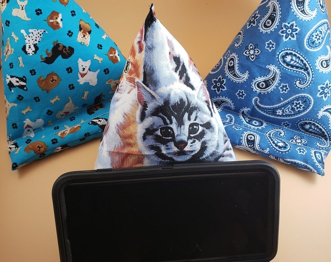 New Fall Sale Cell Phone Pillow Stand, Cat Fabric Phone Pillow, Dog Fabric Phone Pillow Stand, IPAD Pillow Stand, Student Gift, Teacher Gift