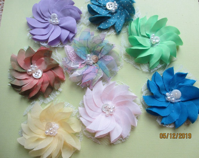 9 Baby Shower Flower Favors,Baby Shower Flower Corsage Favors, Baby's Room Decor, Baby Garland Flowers, Baby Shower Decor