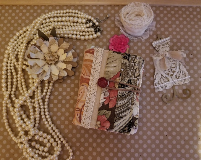 Handmade Complete Rustic Style Needle Book, Vintage Style Sewing Book, Teachers Gift, Grandmas Sewing Gift, Nurses Gift,