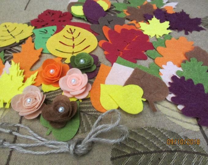 New Create Your Own Felt Fall Leaf Garland Kit, Fall Felt Leaf Garland, Fall Leaf Home Decor, Teachers Classroom Garland
