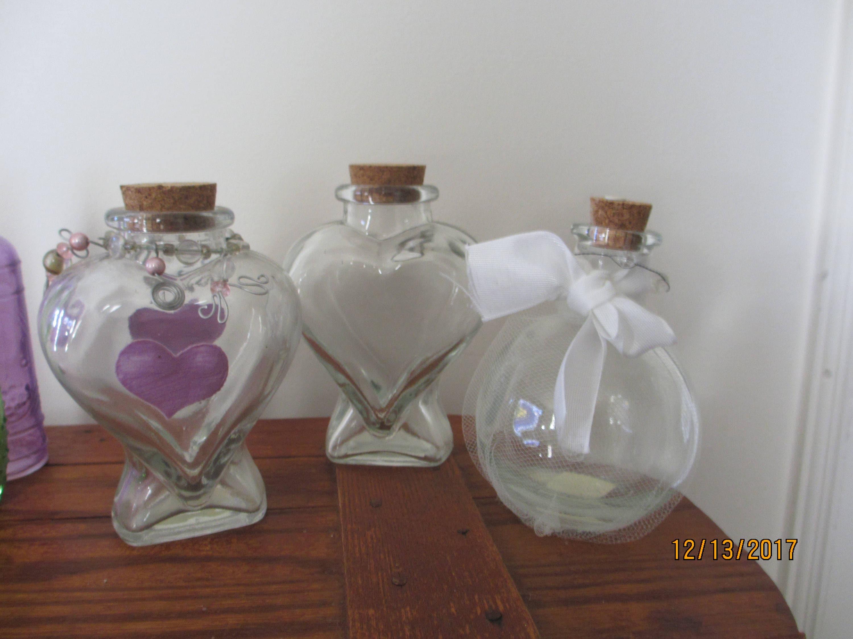 7 Asstd Beach Bottles, Beach Wedding Bottlee, Summer Glass Shower ...