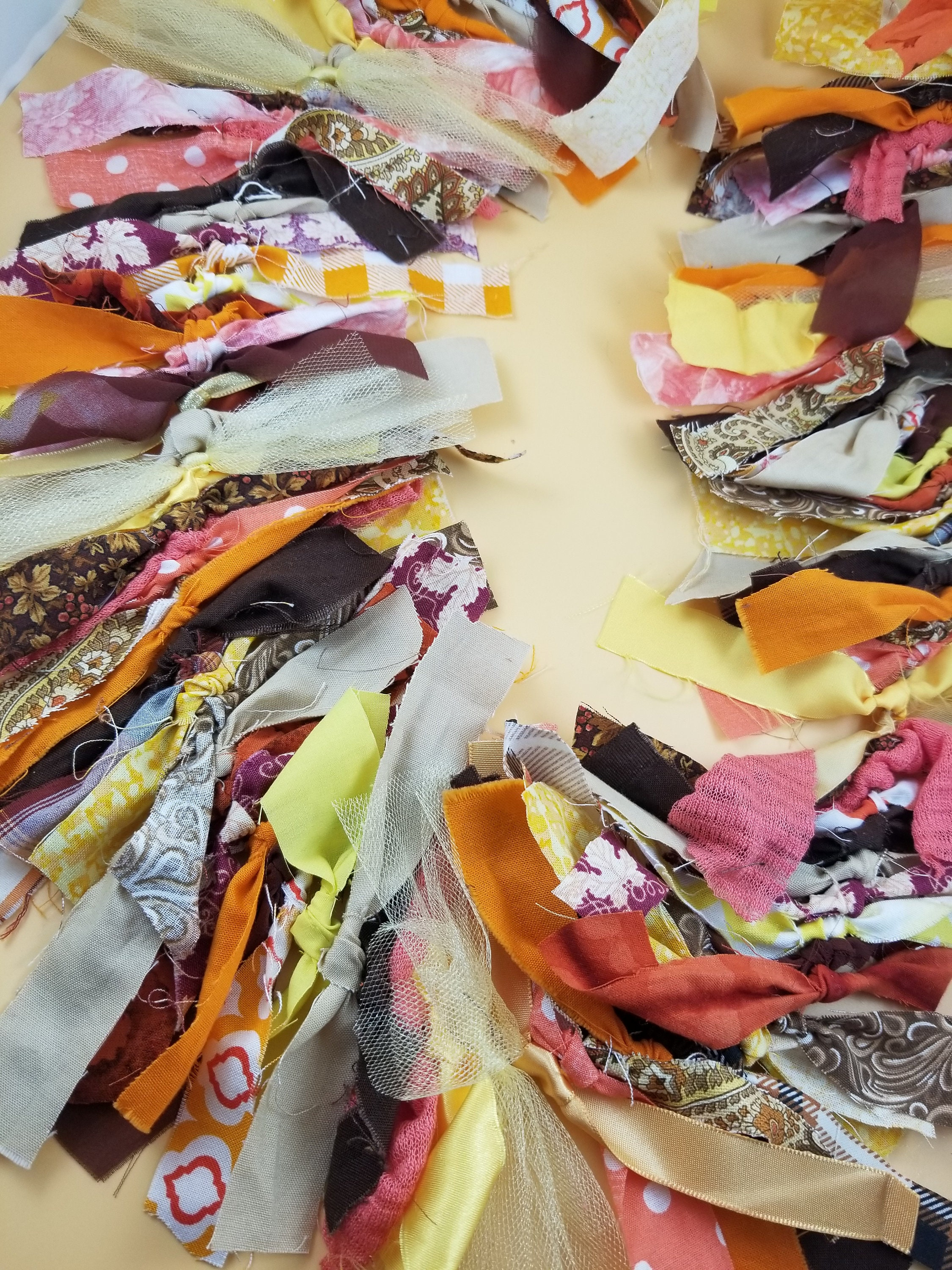 New Rustic Fall Fabric Garland Colorful Rustic Fall Wedding Garland 5 Ft Rustic Fall Shower Garland Bridal Shower Flower Garland