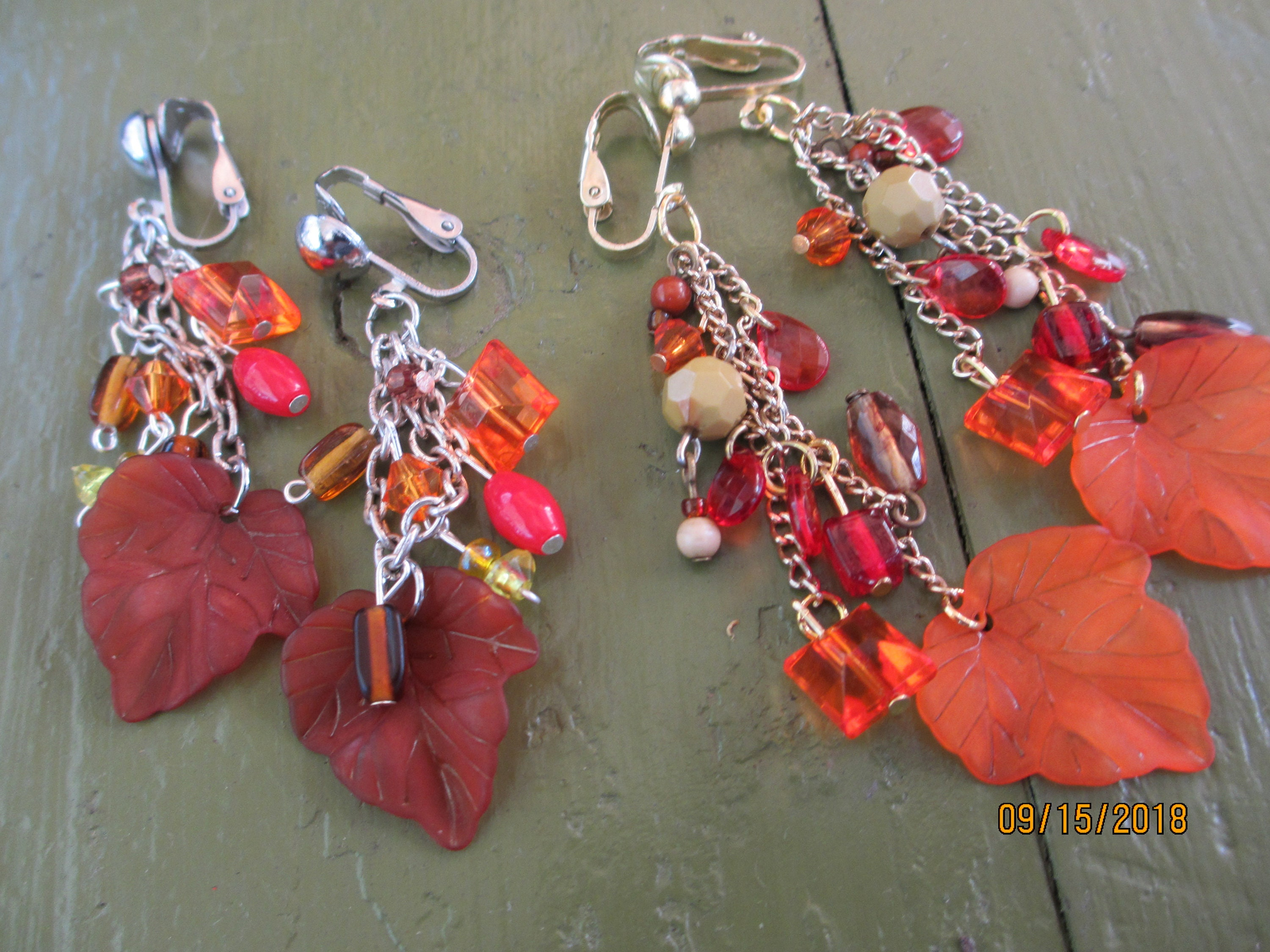 d0561c570 ... New Cute Clip On Fall Leaf Earrings, Fall Jewelry. gallery photo ...