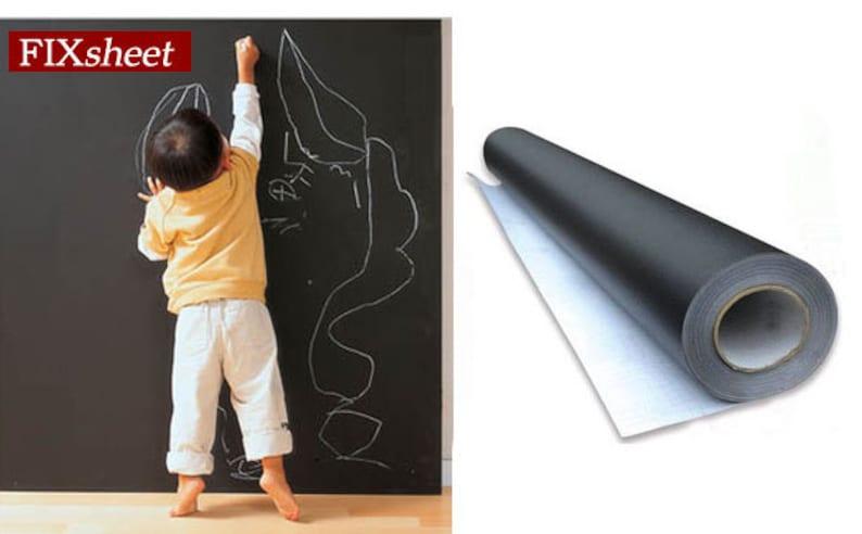 Offre Artiste Grand Tableau Noir Ardoise Murale Papier Etsy