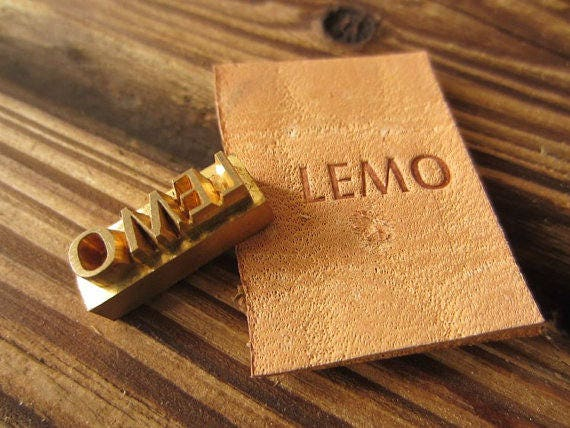 custom embosser leather stamp create your logo brass seal etsy custom embosser leather stamp create your logo brass seal stamp leather tools custom mold hand knock mold wood food cake iron tools