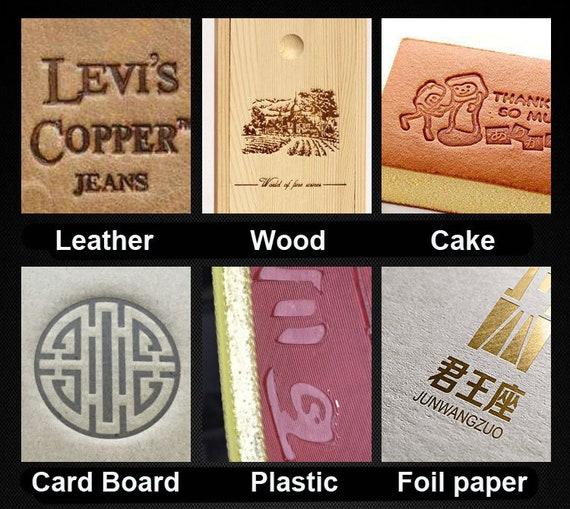 Handheld Hot Foil Stamping logo embossing Machine Leather Wood Stamp Seal 220V