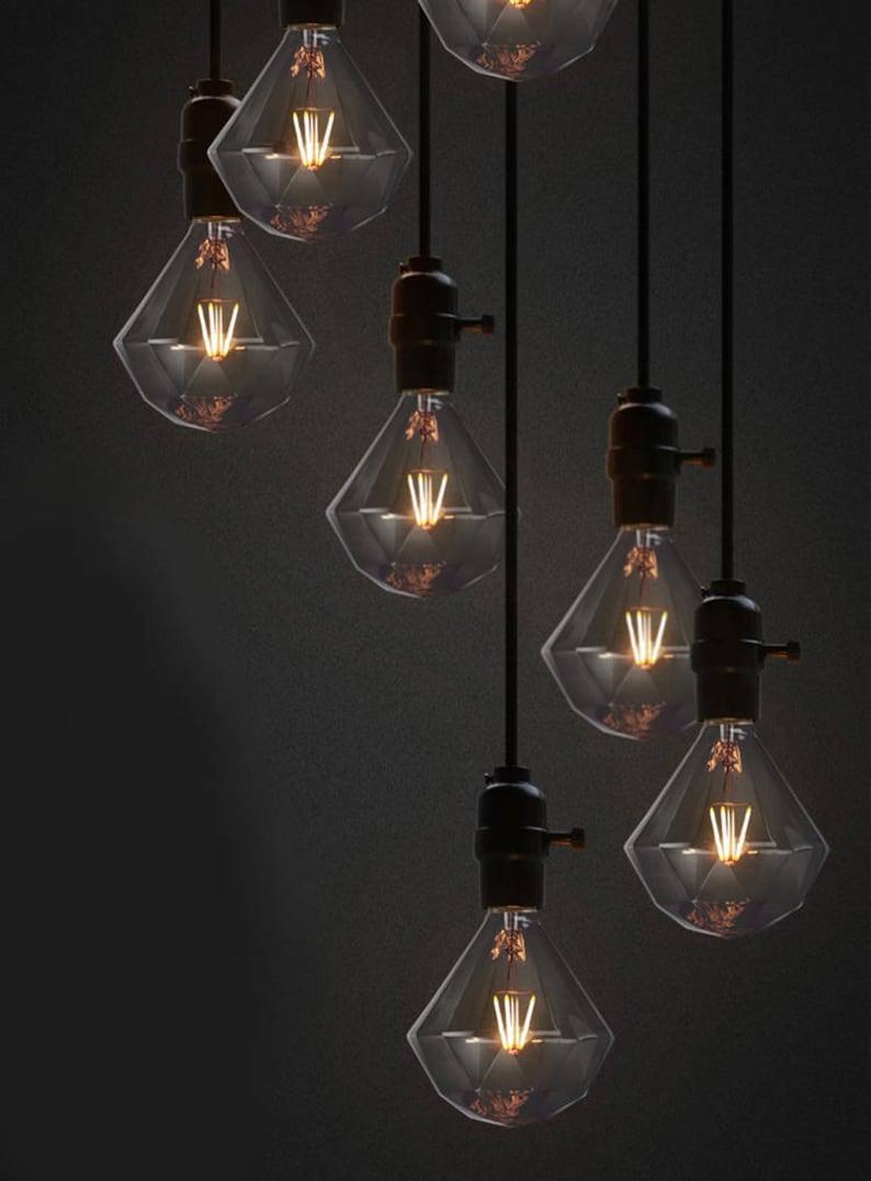 Edison Enorme Gros Diamant Filament Ampoule Industriel 220v 4w Etsy