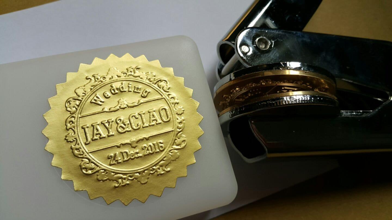 200 Paper Stickers Embosser Seal EZ stamp Certificate Seals Serrated Certificate