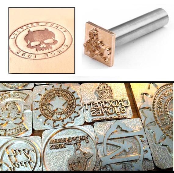 Custom made Brass LOGO Leather Stamp Steel Handle Wood cake Heat Embosser Seal