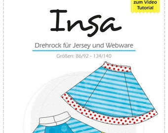Color mix Insa new doppekrock sewing pattern paper cutting sheet