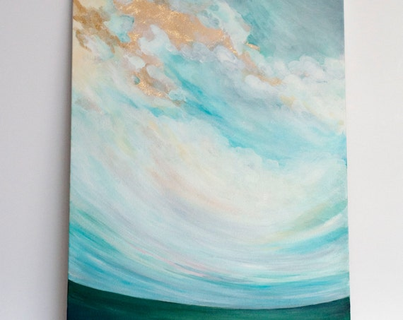 "Original 18x24 Painting ""Cloudscape No. 6"" FREE SHIPPING"
