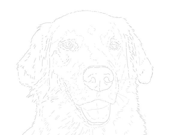 Custom 8x10 Watercolor Pet Portrait Reserved for April