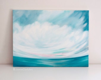"""Original 18x24 Painting """"Cloudscape No. 3"""" FREE SHIPPING"""