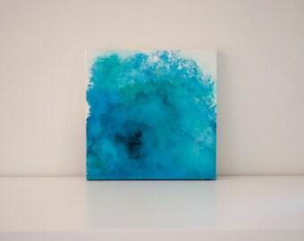 "Original 10x10 Painting ""Blue Tide"" FREE SHIPPING"