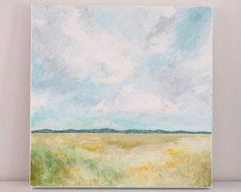 "Original 10x10 Painting ""Mountain Landscape"" FREE SHIPPING"