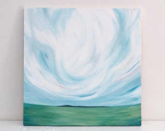 """Original 24x24 Painting """"Cloudscape No. 5"""" FREE SHIPPING"""