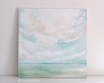 """Original 24x24 Painting """"Cloudscape No. 1"""" FREE SHIPPING"""