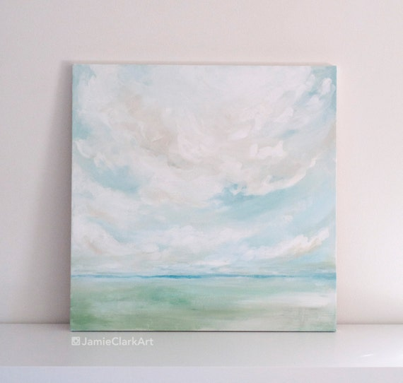 "Original 24x24 Painting ""Cloudscape No. 1"" FREE SHIPPING"