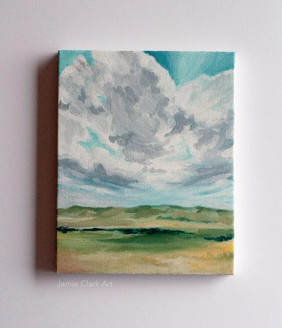 "Original 8x10 Painting ""Cedar City Sky"" FREE SHIPPING"