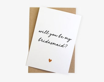 Will You Be My Bridesmaid / Maid of Honour Reveal Card