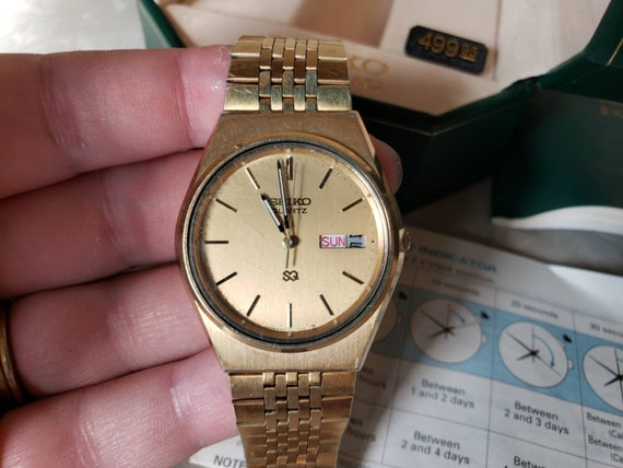 Vintage Seiko Kinetic Mens Watch