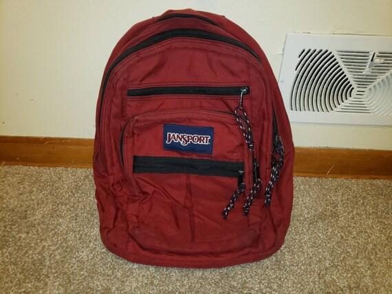 Vintage Jansport Backpack Dark Red 1990s