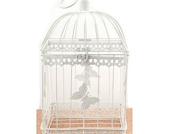 Bird Cage Wishing Well Alternative For Wedding Money Gift Square Metal Birdcage