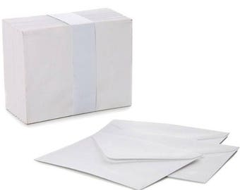 Mini Envelopes Small White 85mm x 110mm Wedding RSVP Cards Stationery Supplies