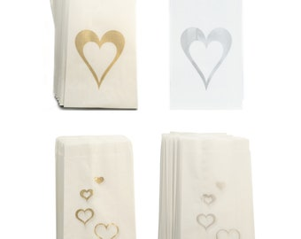 Wedding Cake Bags x 50 Greaseproof Wax Paper Slice Take Home Favour