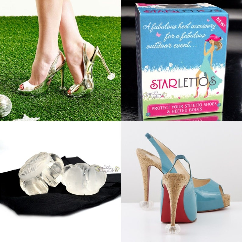 962d2bda422 Starlettos Crystal Clear Heel Protectors Stiletto Tips Genuine
