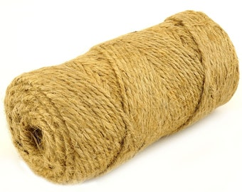 Twine Jute String For Craft Heavy Duty Natural Gift Wrapping Parcel Garden