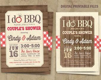 I do BBQ Invitation, I do BBQ  Couples Shower, Bbq Invitation, I do BBQ Couple Shower Invitation, Digital Printable Files