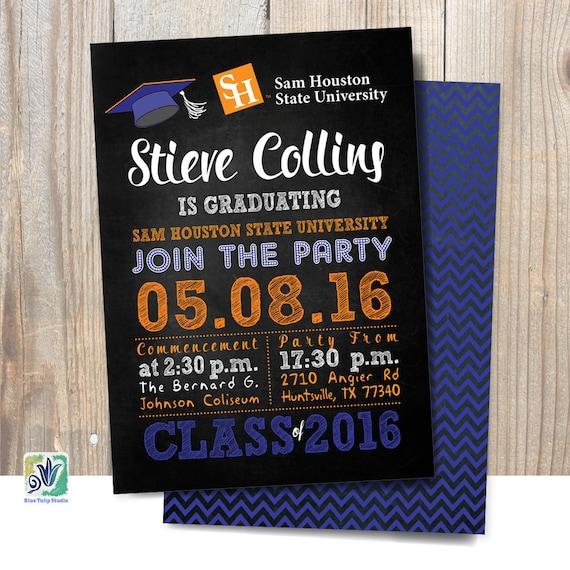 graduation invitation graduation announcement shsu etsy