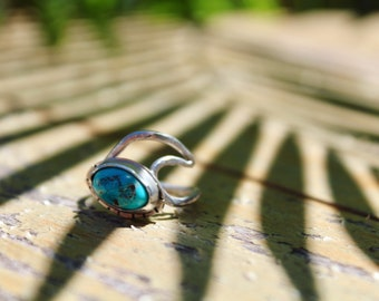 Party Wave Turquoise Ring