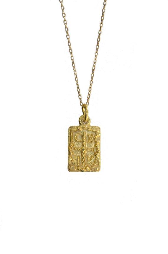 Christlichen Gold Halskette Münze Christlichen Halskette Etsy