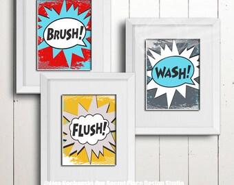 kids bathroom sign childrens superhero bathroom wall art kids decor signs for childrens digital super etsy