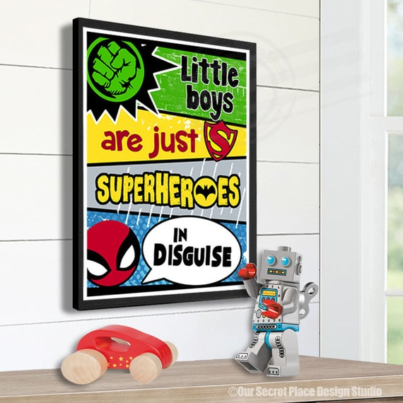 Superhero Wall Art Superhero Decor Superhero Wall Decor Superhero Signs for  boys Room Wall Art for Boys Room Wall Decor Room Decor for Boys