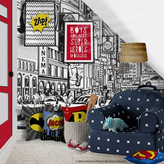 Childrens Room Wall Art for Toddler Boy Superhero Wall Art for Boys  Superhero Signs for boys Room Wall Art for Kids Wall Art Superhero Print