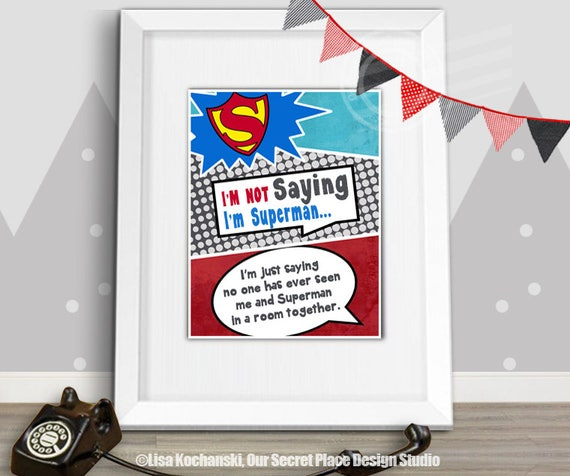 superman nursery decor.htm printable im not saying im superman wall art superhero nursery etsy  im superman wall art superhero nursery