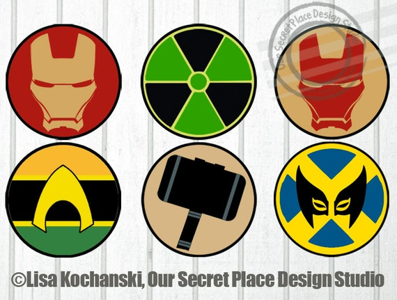 It's just a picture of Crafty Superhero Logo Printable