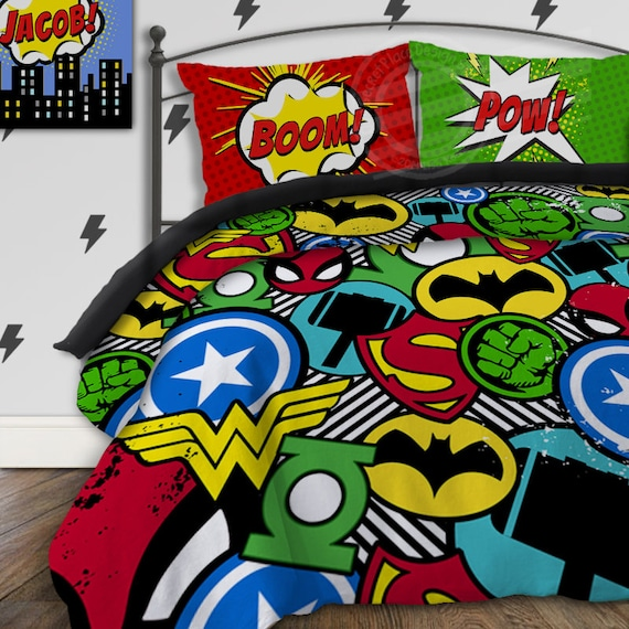 Boys Superhero Room Decor: Superhero Bedding For Boys Bedding Twin Boys Superhero