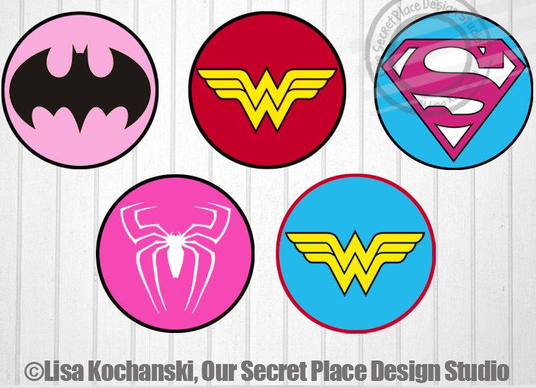 Girl Superhero Logo Superhero Girl Superhero Symbols Superhero Etsy