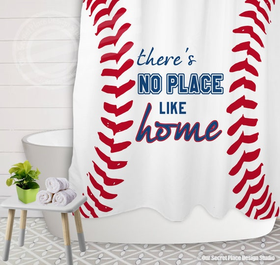 Theres No Place Like Home Sports Baseball Shower Curtain