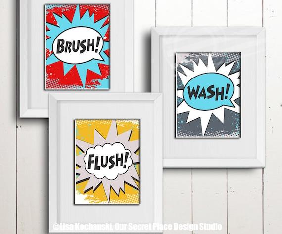 home decor bathroom signs.htm superhero bathroom wall art kids bathroom wall art superhero etsy  superhero bathroom wall art kids