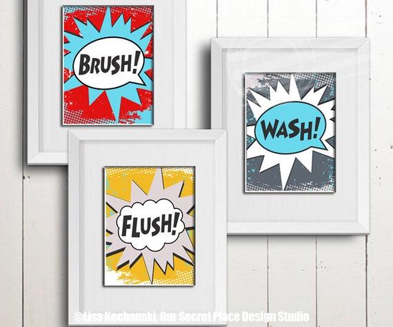 Bathroom wall art  Etsy