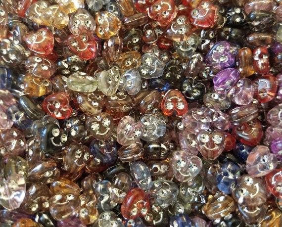 500 pcs Assorted Rhinestone Flower Diamonettes Plastic Craft Jewelry Beads