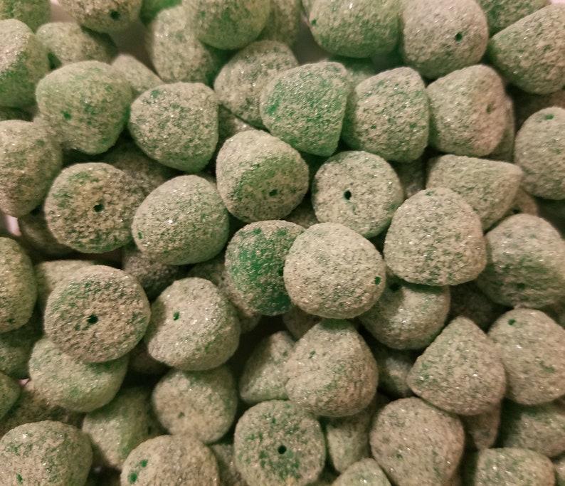 100 pcs Medium Sugared Gumdrop Sugar Coated Gum Drop Candy Christmas Plastic Craft Beads